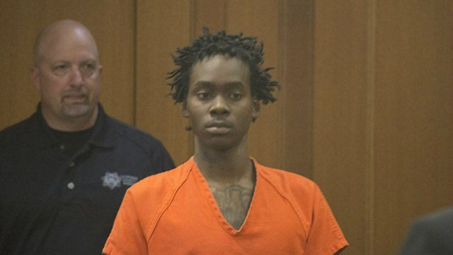 Deshawn Randall during a court appearance in 2015