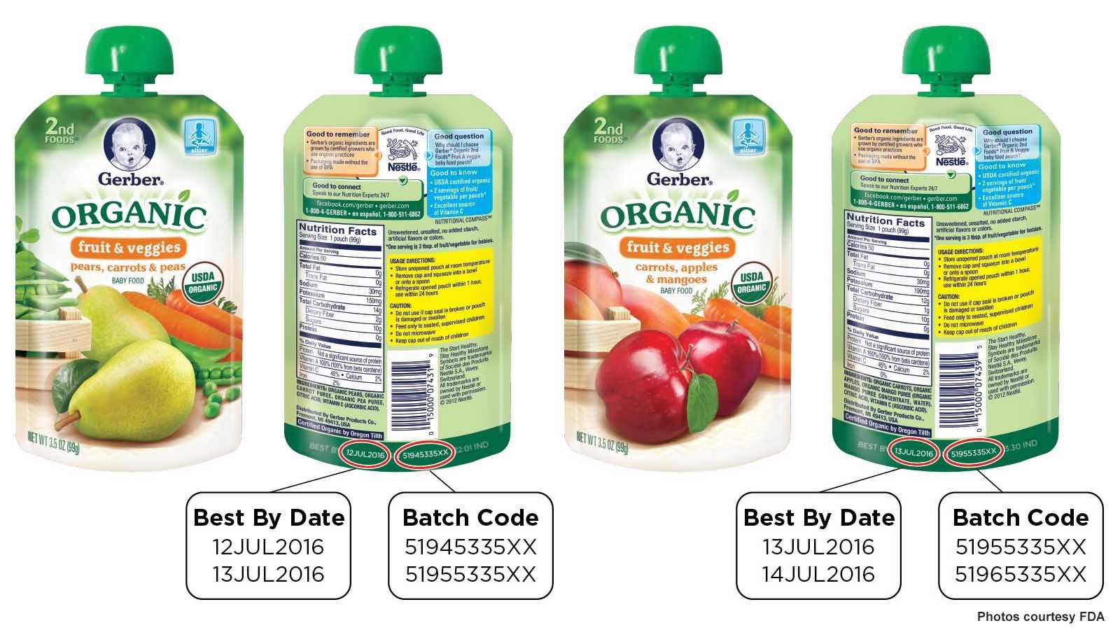 Gerber Organic Baby Food Recall