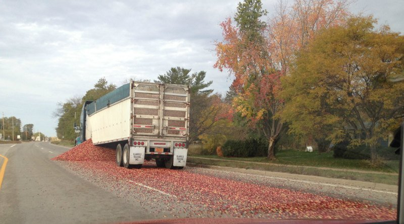 Trucking company cited for cranberry spill wxow news 19 for Courtesy motors stevens point
