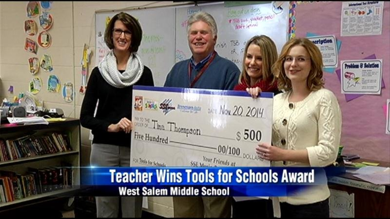 West Salem teacher latest Tools For Schools winner - WXOW ...