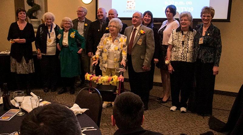 Jefferson Award winners Thursday, April 7, 2016 at a banquet honoring their service.