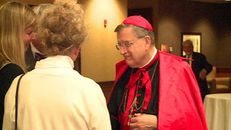 Cardinal Raymond Burke, seen here in a photo during a 2013 visit to Wausau, part of the Diocese of La Crosse