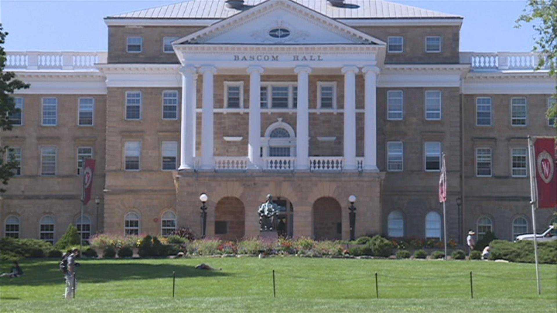 Outside look at Bascom Hall at University of Wisconsin-Madison.