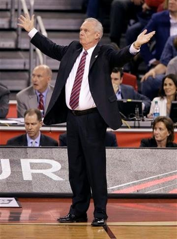 (AP Photo/Darron Cummings). Wisconsin head coach Bo Ryan reacts to a call during the second half of the NCAA Final Four college basketball tournament championship game against Duke Monday, April 6, 2015, in Indianapolis.